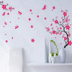 Peach Blossom Style Wall Sticker Home Appliances Decor Wall Decals