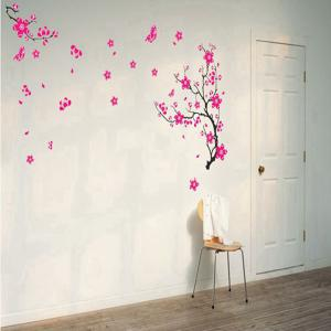 Peach Blossom Style Wall Sticker Home Appliances Decor Wall Decals - PINK