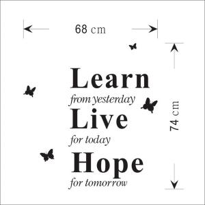 Learn Live Hope English Word Style Wall Sticker Home Appliances Decor Wall Decals -