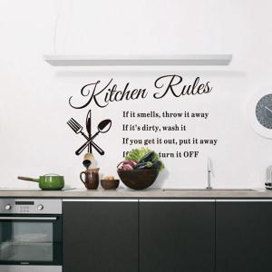 ... Kitchen Rules Style Wall Sticker Home Appliances Decor Vinyl Wall Decals  ... Part 36