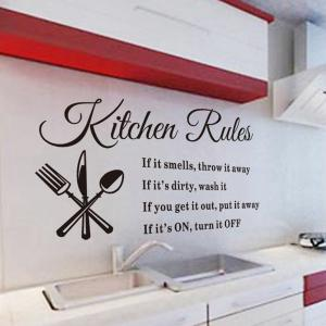 Kitchen Rules Style Wall Sticker Home Appliances Decor Vinyl Wall Decals - AS THE PICTURE