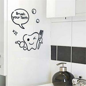 Brush Your Teeth Style Wall Sticker Home Bathroom Decor Wall Decals -