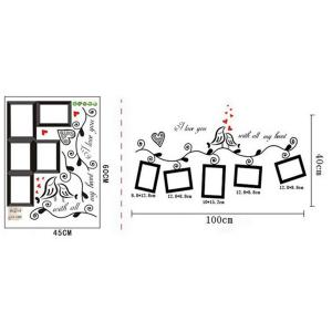 Photo Frame Wall Sticker Home Decals Wall Decals - BLACK