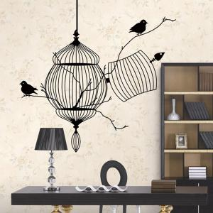 Birdcage Style Wall Sticker Home Appliances Decor Wall Decals -