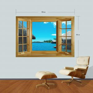 3D Seascape Style Wall Sticker Home Appliances Decor Wall Decals -