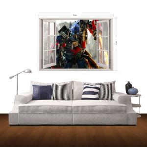 3D Transformers Style Wall Sticker Home Appliances Decor Wall Decals -