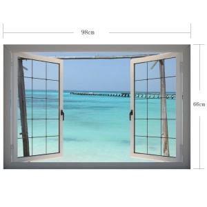 3D Wall Stickers Beach Wall Decals Home Decor - COLORFUL