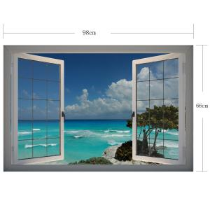 3D Wall Stickers Seascape Style Wall Decals Home Appliances Decor -