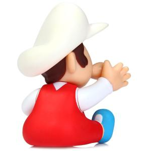 Super Mario Brothers Toy Figure Baby Mario with White Cap 9cm Height - AS THE PICTURE