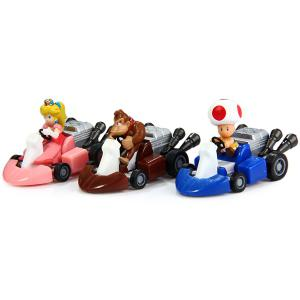 Super Mario Bros Kart Pull Back Car Figure Toy ( Each Approx 5.5cm ) 10pcs a Set -