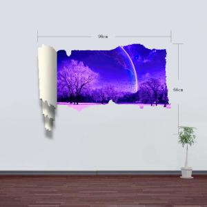 3D Wall Stickers Sakura at Night Style Wall Decals Home Appliances Decor -