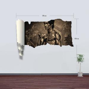 3D Wall Stickers Bruce Lee Style Wall Decals Home Appliances Decor -