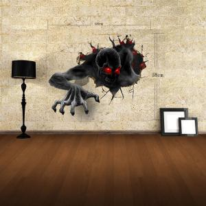 3D Wall Stickers Devil Style Wall Decals Home Appliances Decor - COLORFUL
