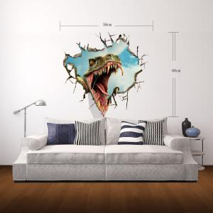 3D Wall Stickers Dinosaur Style Wall Decals Home Appliances Decor -