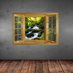 Landscape Brook Pattern 3D Wall Sticker Decal with Vinyl Material -