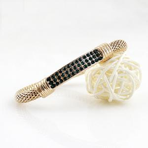 Alloy Rhinestone Bracelet - COLOR ASSORTED