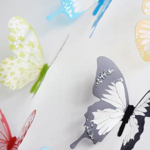 18pcs DIY 3D Chromatic Butterfly Wall Sticker Art Decal for Living Room Kitchen - AS THE PICTURE