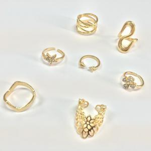 7PCS Star Leaf Rings - GOLDEN ONE-SIZE