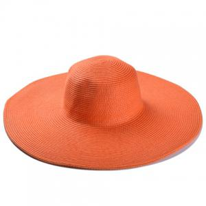 Broad Brimmed Beach Fedora Straw Hat - RANDOM COLOR