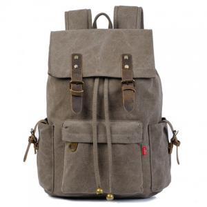 Preppy Buckles and String Design Men's Backpack - Deep Gray - 42