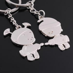 Pair of Sweet Doll Pendant Key Rings For Lovers -