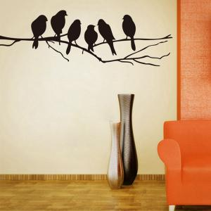 Birds Style Wall Sticker Home Appliances Decor Wall Decals -