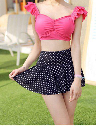 Online Sweet Sweetheart Neck Polka Dot Print Two-Piece Women's Swimsuit