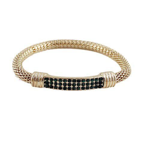 Chic Alloy Rhinestone Bracelet - COLOR ASSORTED  Mobile