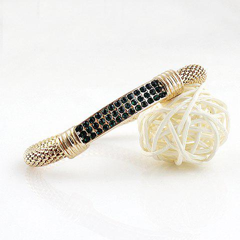 Trendy Alloy Rhinestone Bracelet - COLOR ASSORTED  Mobile