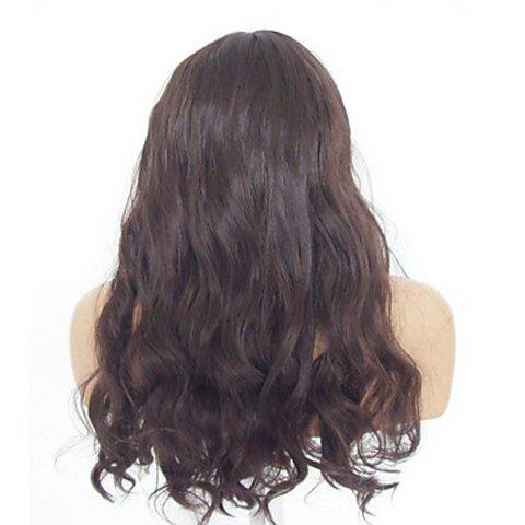 Vogue Full Bang Imported Heat-Resistant Fiber Long Wavy Brown Synthetic Wig For Women от Rosegal.com INT