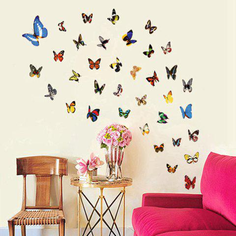 Fashion Colorful Butterfly Style Wall Sticker Home Appliances Decor Wall Decals