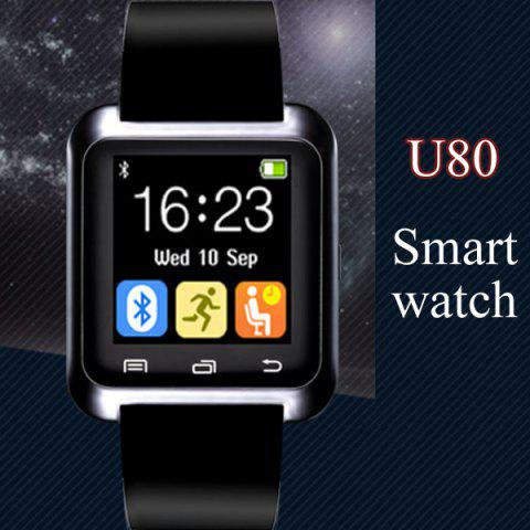 Cheap U80 Smart Watch with Pedometer Function - BLACK  Mobile