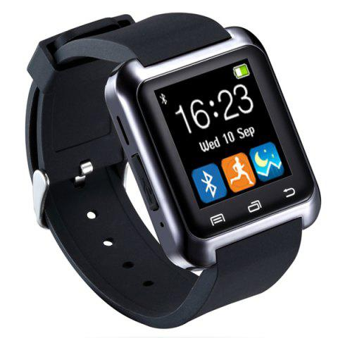 U80 Smart Watch with Pedometer Function - Black