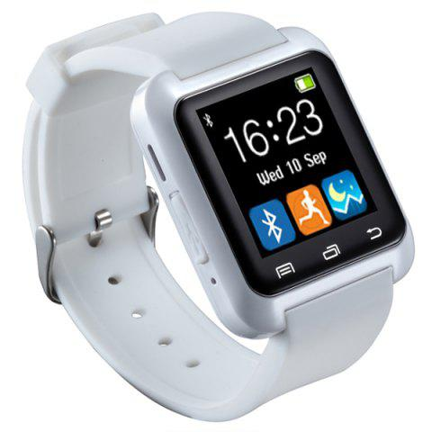 U80 Smart Watch with Pedometer Function - White - 150*180cm