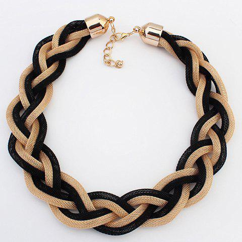 Punk Braided Link Necklace For Women