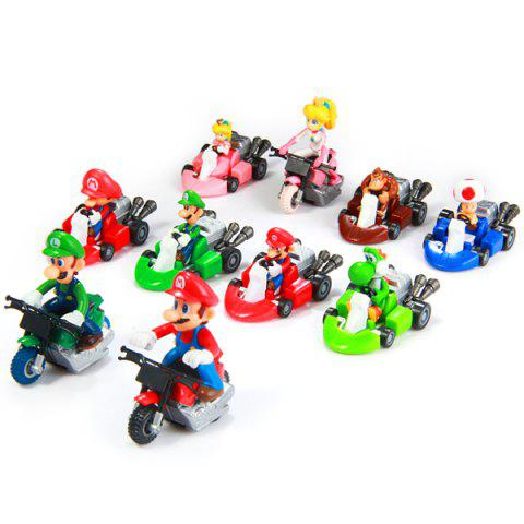 New Super Mario Bros Kart Pull Back Car Figure Toy ( Each Approx 5.5cm ) 10pcs a Set