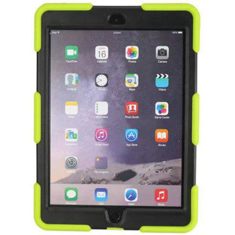 NEON GREEN PC and Silicone Material Back Cover Case for iPad Air 2