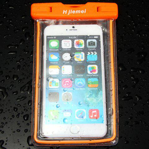 ORANGE Hjiemei Screen Touch Waterproof Pouch for iPhone 6S 6 Plus 5 5S MIUI Samsung etc.