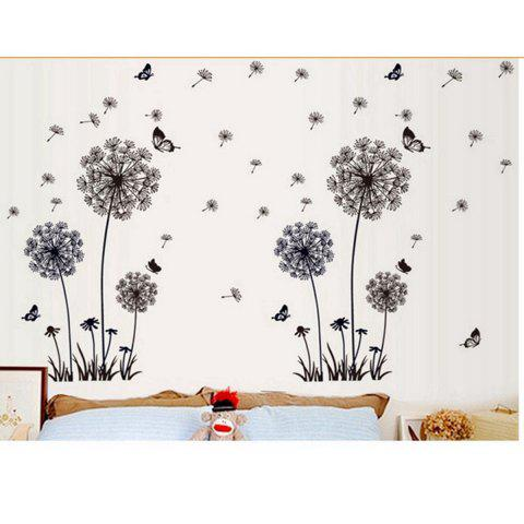Best Black Dandelion Style Wall Sticker Home Appliances Decor Wall Decals - BLACK  Mobile