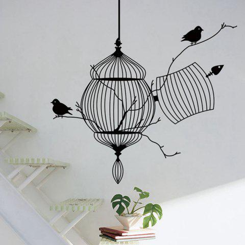 Shops Birdcage Style Wall Sticker Home Appliances Decor Wall Decals