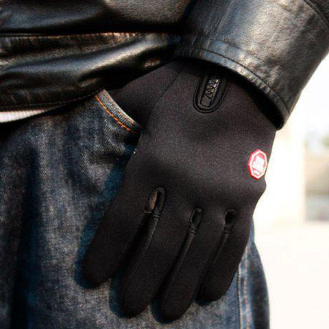 Shops 2Pcs FLL Windstopper Softshell Outdoor Sports Full-finger Gloves for Winter Riding Cycling Racing - M BLACK Mobile