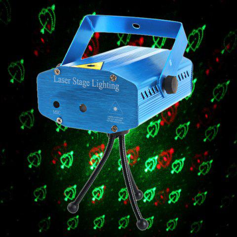 BLUE 20 Patterns Sound Activated Mini Laser Projector