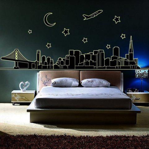 Affordable Luminous City Architecture Style Wall Sticker Home Appliances Decor Wall Decals