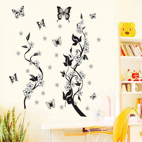 Latest Butterfly and Vines Style Wall Sticker Home Appliances Decor Wall Decals