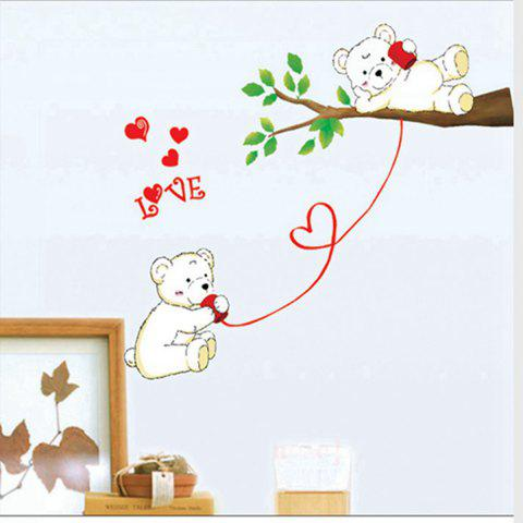 Outfits Bear Lovers Style Home Decor Animal Wall Decals For Nursery AS THE PICTURE