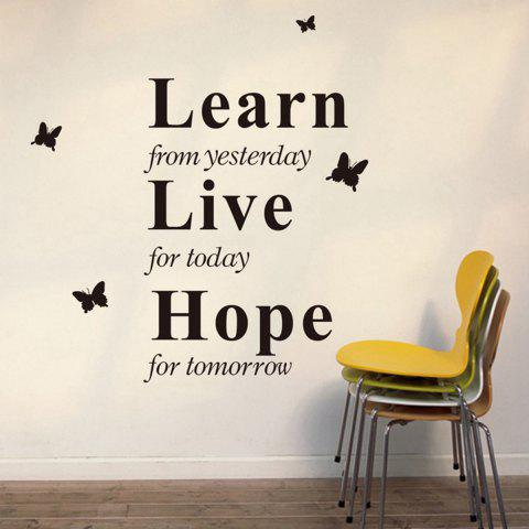 Fancy Learn Live Hope English Word Style Wall Sticker Home Appliances Decor Wall Decals