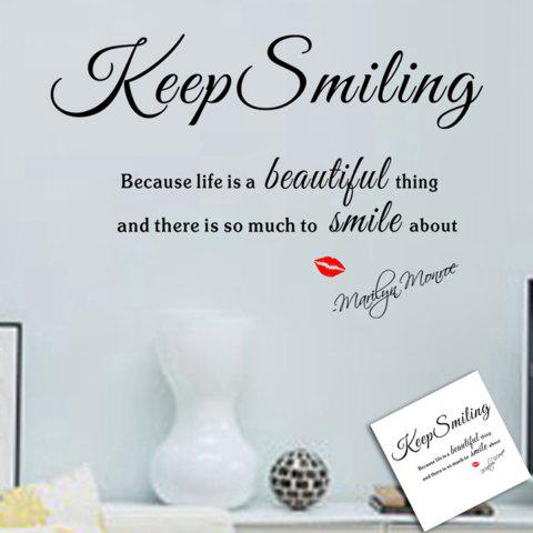Shops Keep Smiling Style Wall Sticker Home Appliances Decor Wall Decals