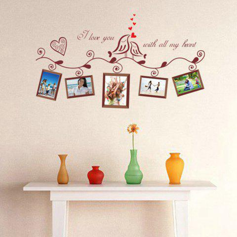 Affordable Photo Frame Wall Sticker Home Decals Wall Decals BLACK