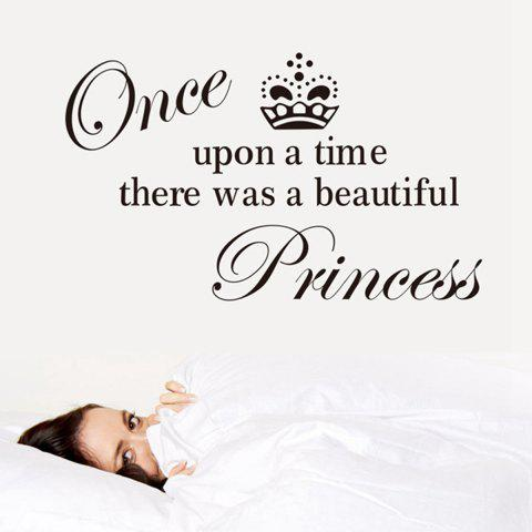 Fancy Princess English Words Style Wall Sticker Home Appliances Decor Wall Decals