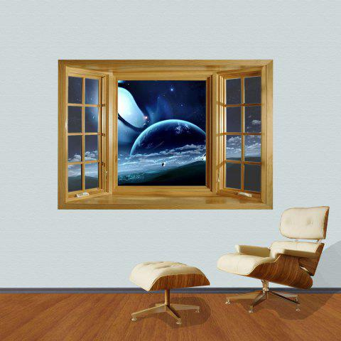 Shops 3D Universe Scenery Style Wall Sticker Home Appliances Decor Wall Decals